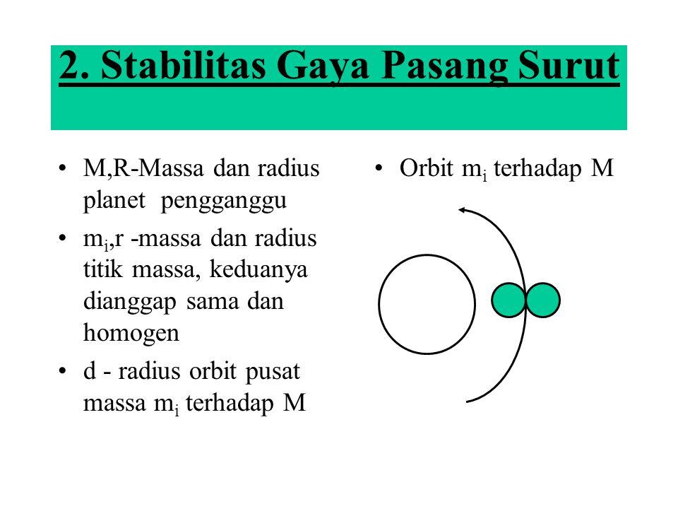 2. Stabilitas Gaya Pasang Surut