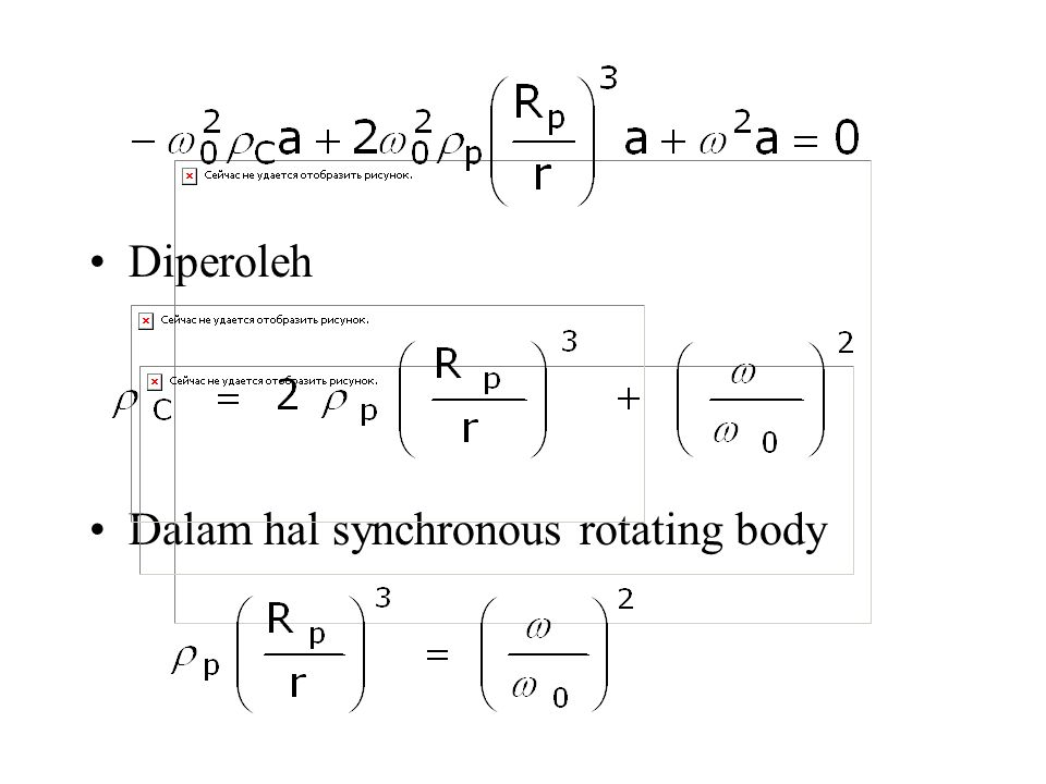 Diperoleh Dalam hal synchronous rotating body