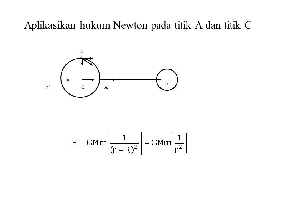 Aplikasikan hukum Newton pada titik A dan titik C