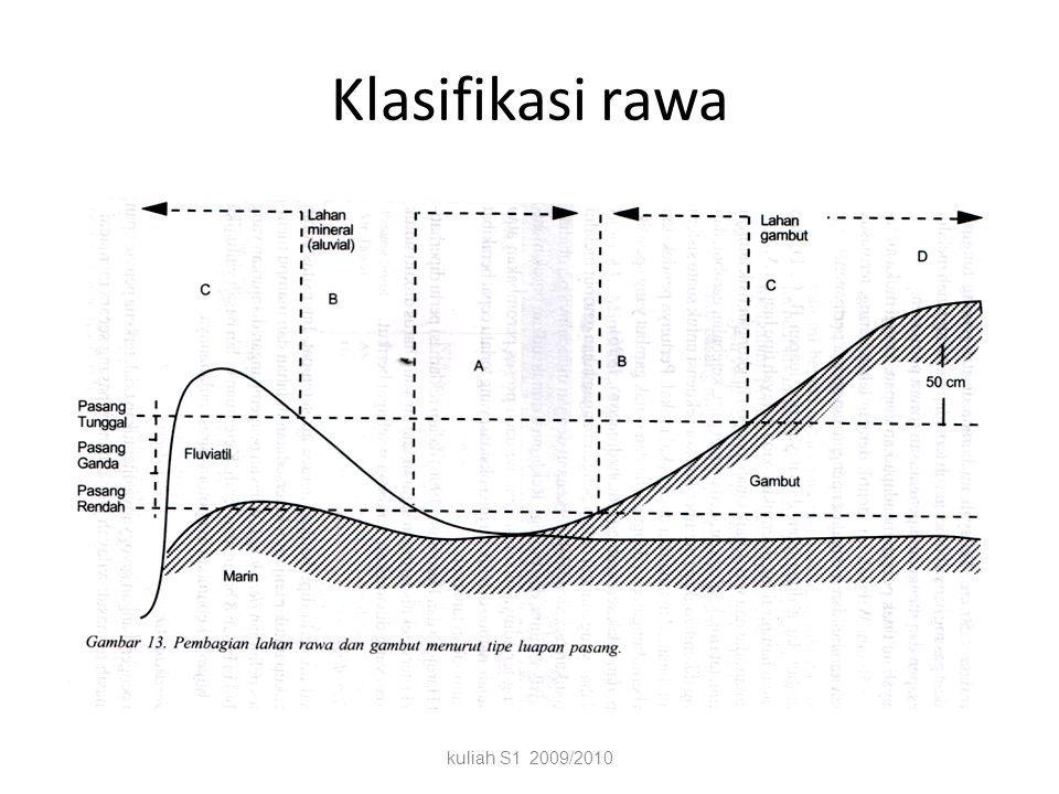 Klasifikasi rawa kuliah S1 2009/2010