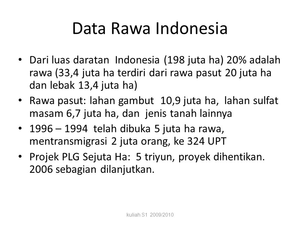 Data Rawa Indonesia