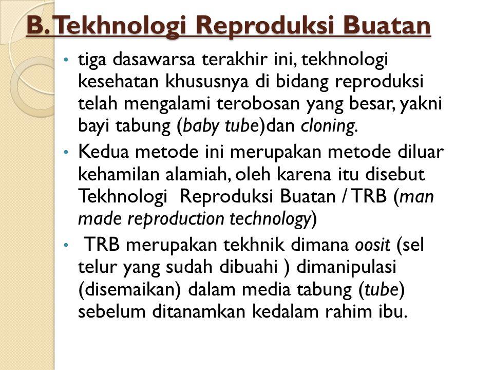 B. Tekhnologi Reproduksi Buatan