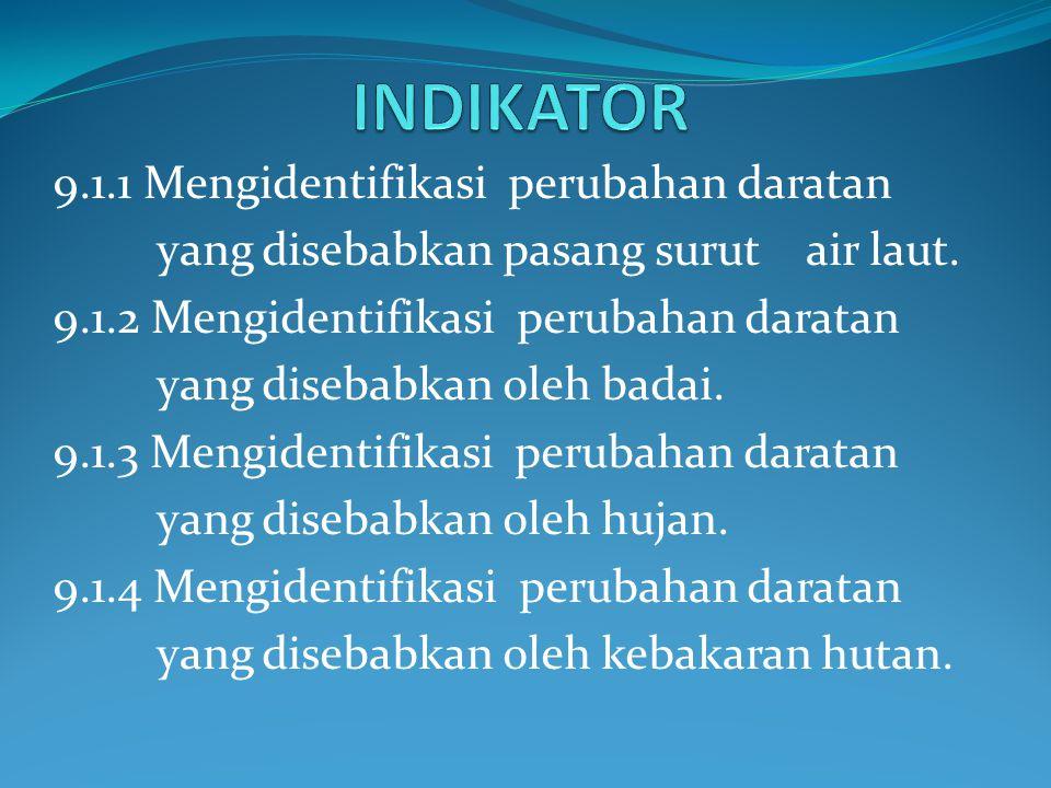 INDIKATOR 9.1.1 Mengidentifikasi perubahan daratan
