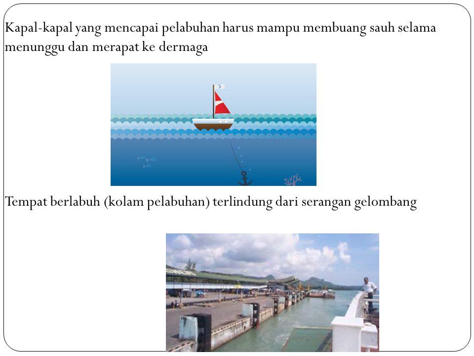 Kapal-kapal yang mencapai pelabuhan harus mampu membuang sauh selama menunggu dan merapat ke dermaga