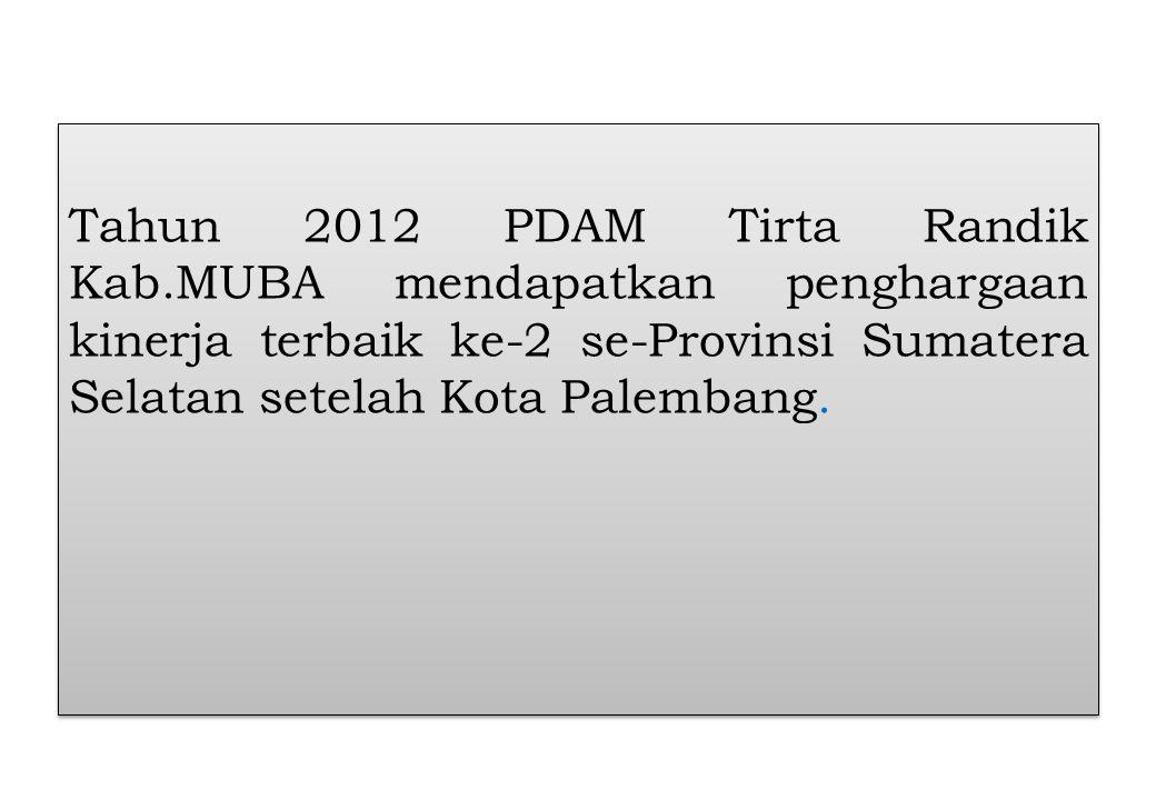 Tahun 2012 PDAM Tirta Randik Kab
