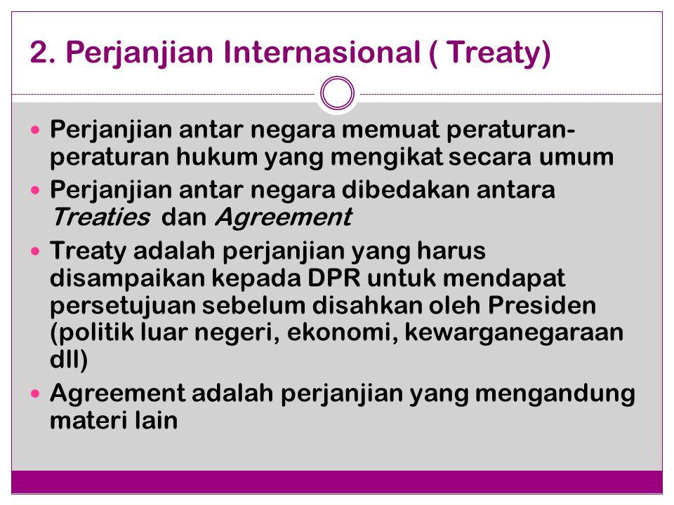 2. Perjanjian Internasional ( Treaty)