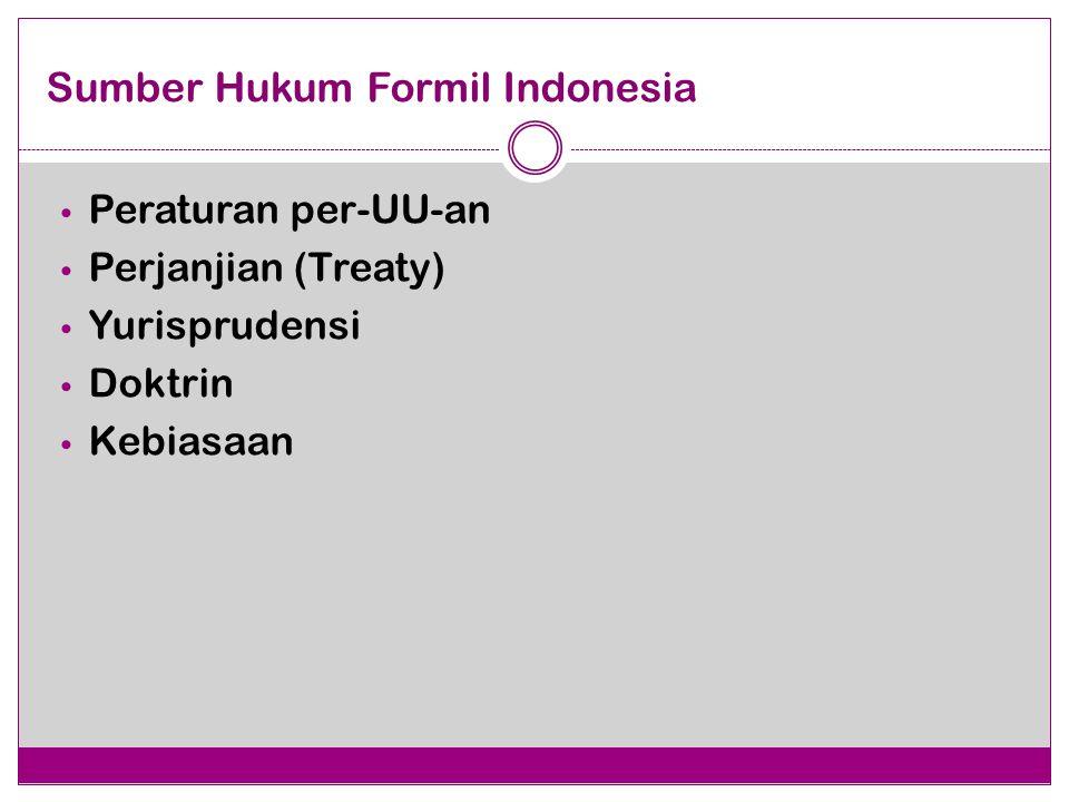 Sumber Hukum Formil Indonesia
