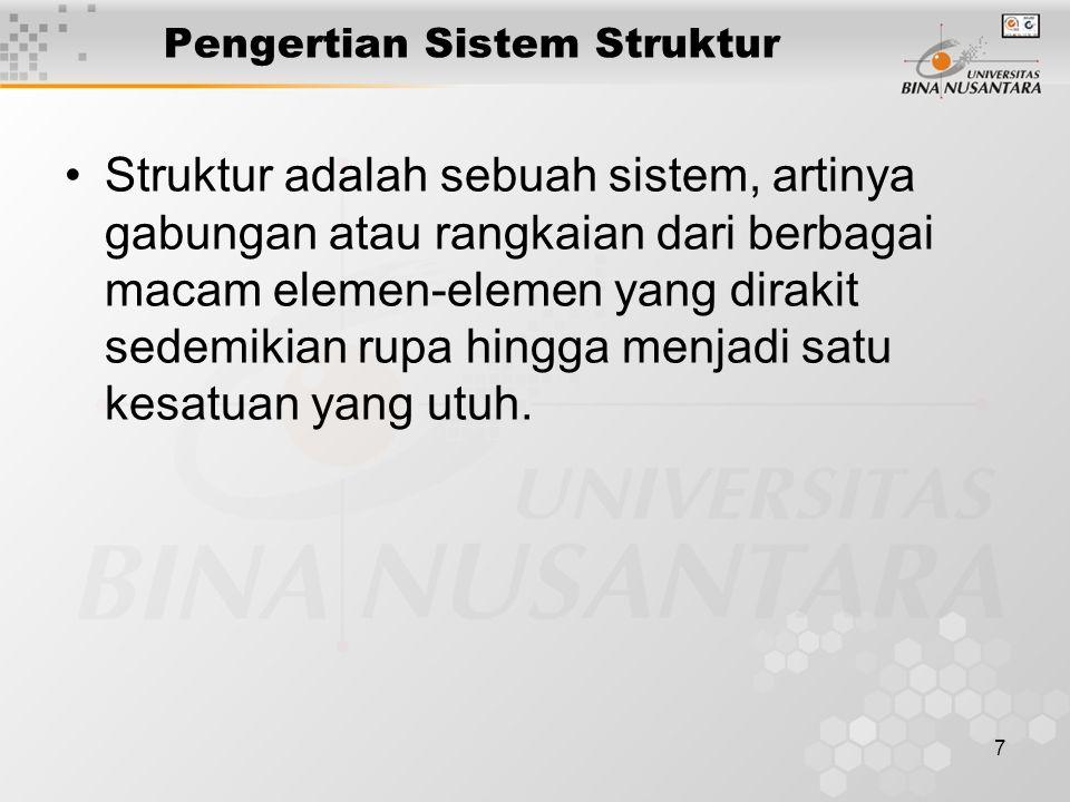 Pengertian Sistem Struktur