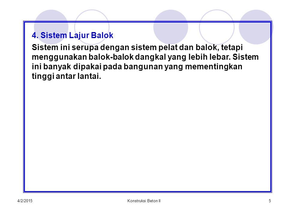 4. Sistem Lajur Balok
