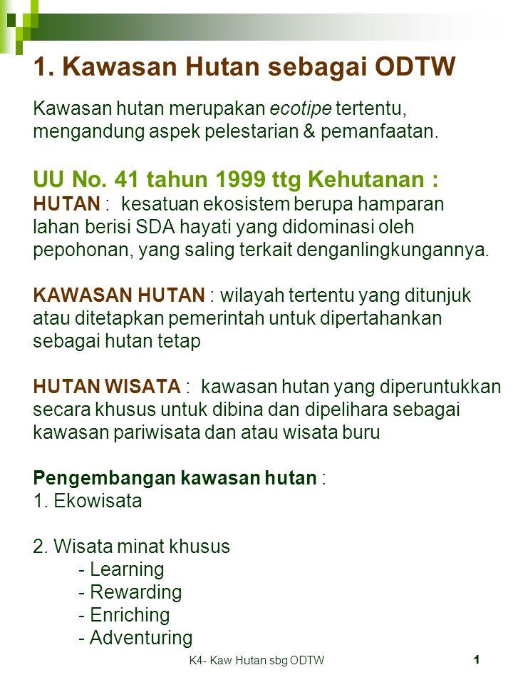 1. Kawasan Hutan sebagai ODTW