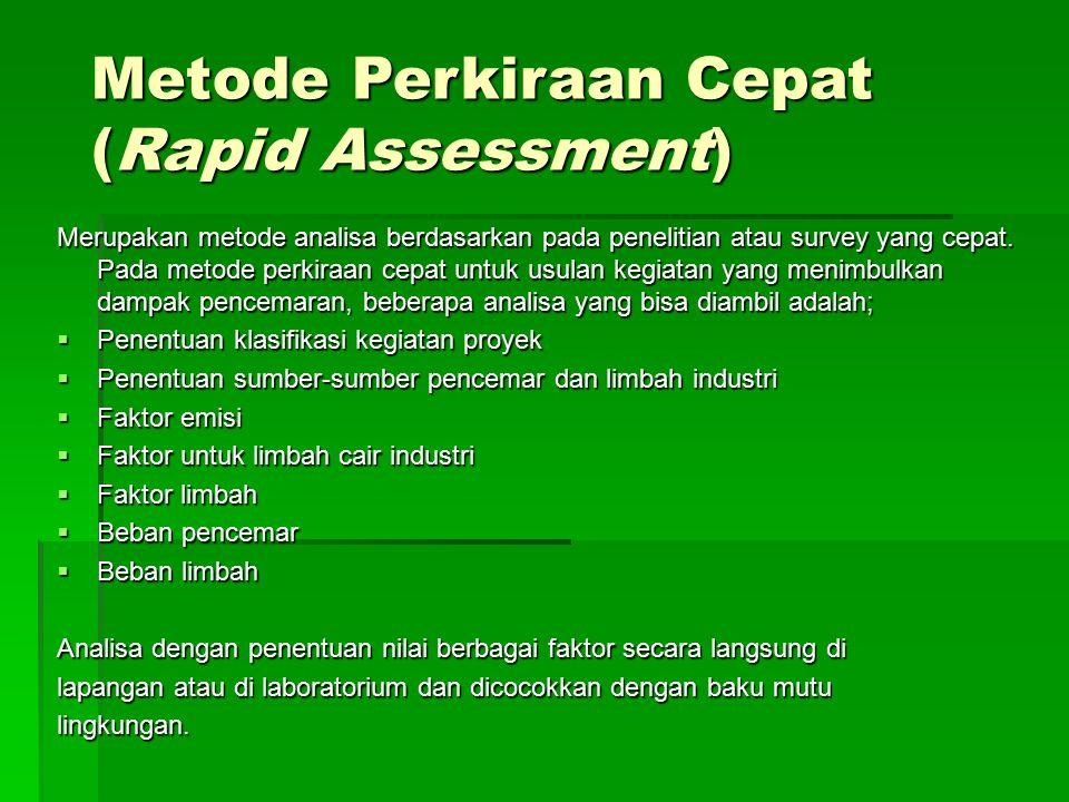 Metode Perkiraan Cepat (Rapid Assessment)