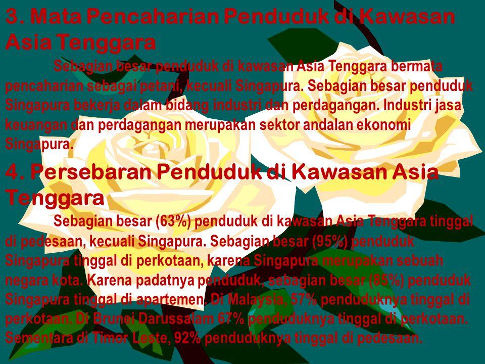 3. Mata Pencaharian Penduduk di Kawasan Asia Tenggara