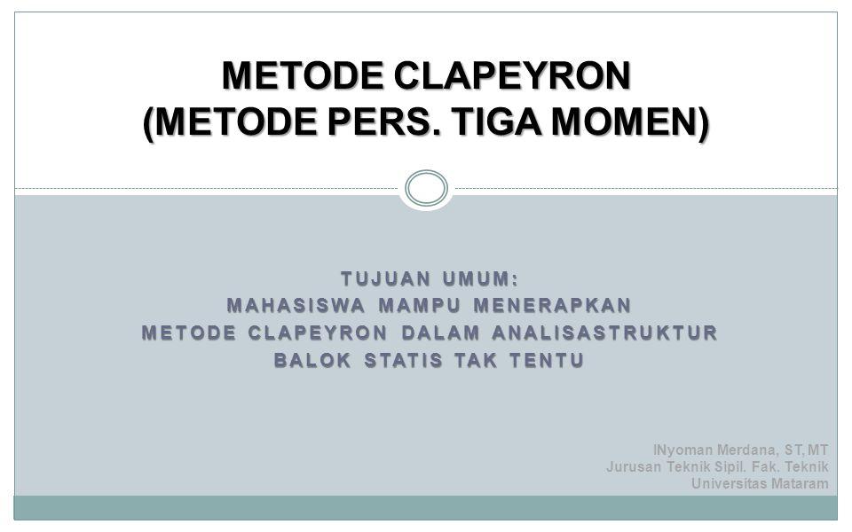 METODE CLAPEYRON (METODE PERS. TIGA MOMEN)