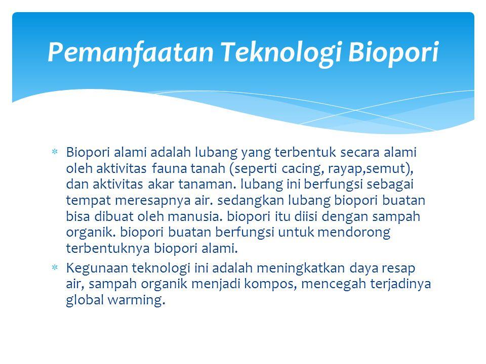 Pemanfaatan Teknologi Biopori