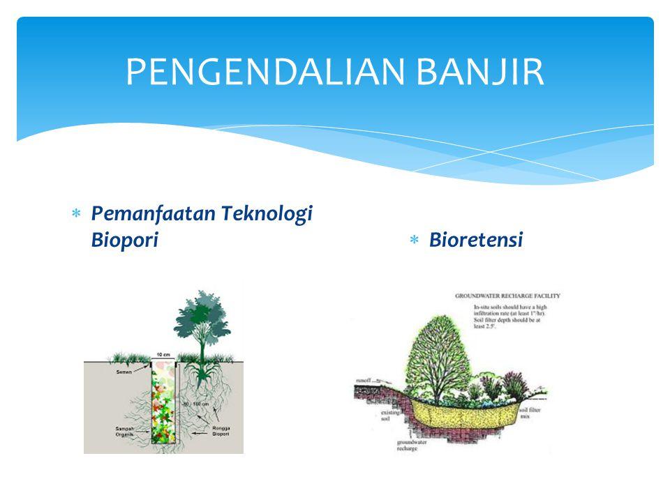 PENGENDALIAN BANJIR Pemanfaatan Teknologi Biopori Bioretensi