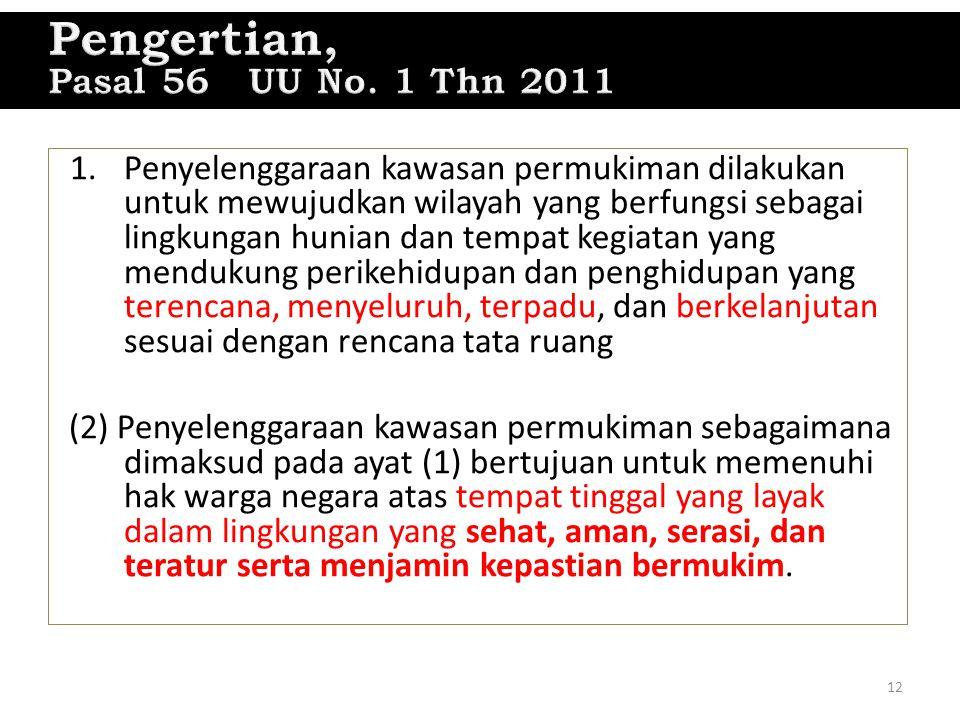 Pasal 56 Pengertian, Pasal 56 UU No. 1 Thn 2011