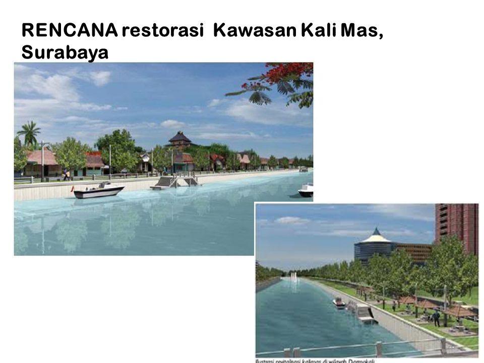 RENCANA restorasi Kawasan Kali Mas, Surabaya
