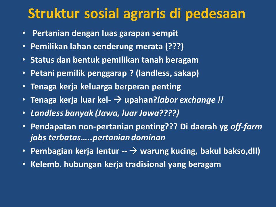 Struktur sosial agraris di pedesaan