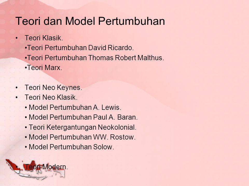 Teori dan Model Pertumbuhan