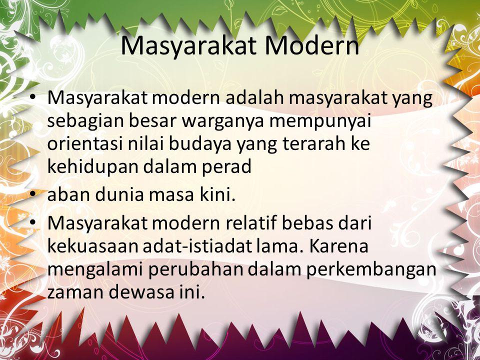 Masyarakat Modern