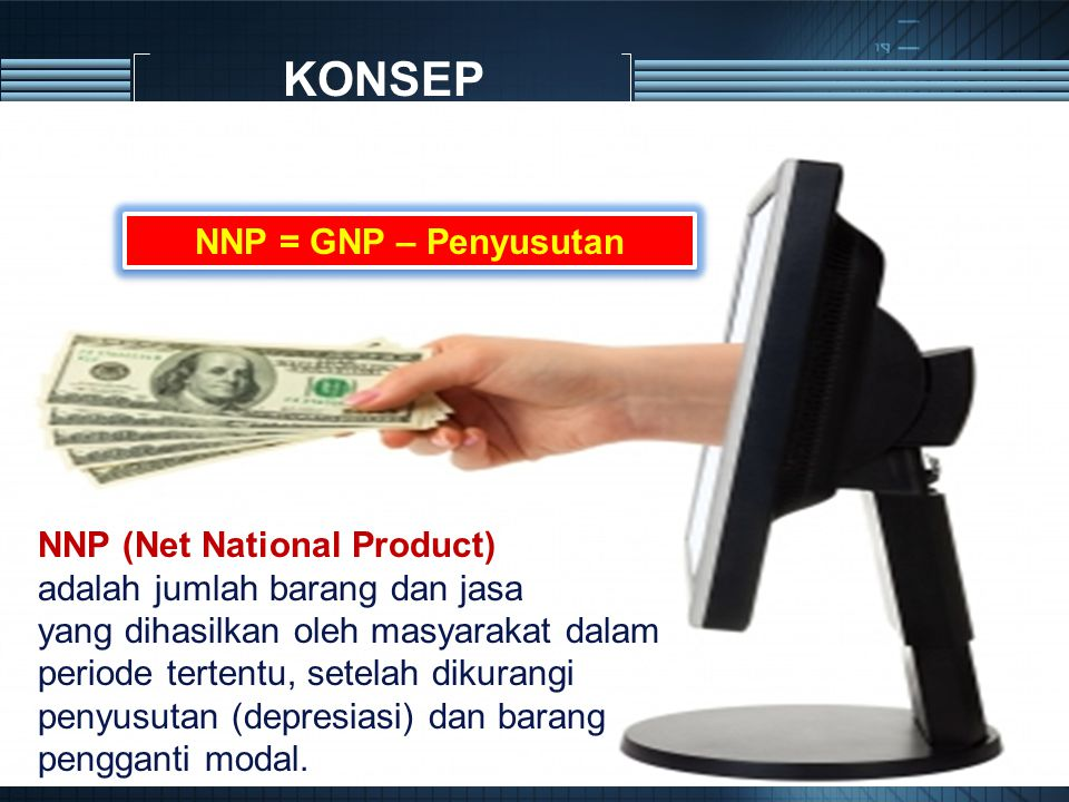 KONSEP NNP = GNP – Penyusutan NNP (Net National Product)