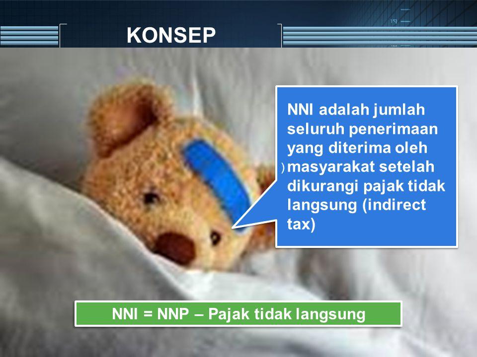 NNI = NNP – Pajak tidak langsung