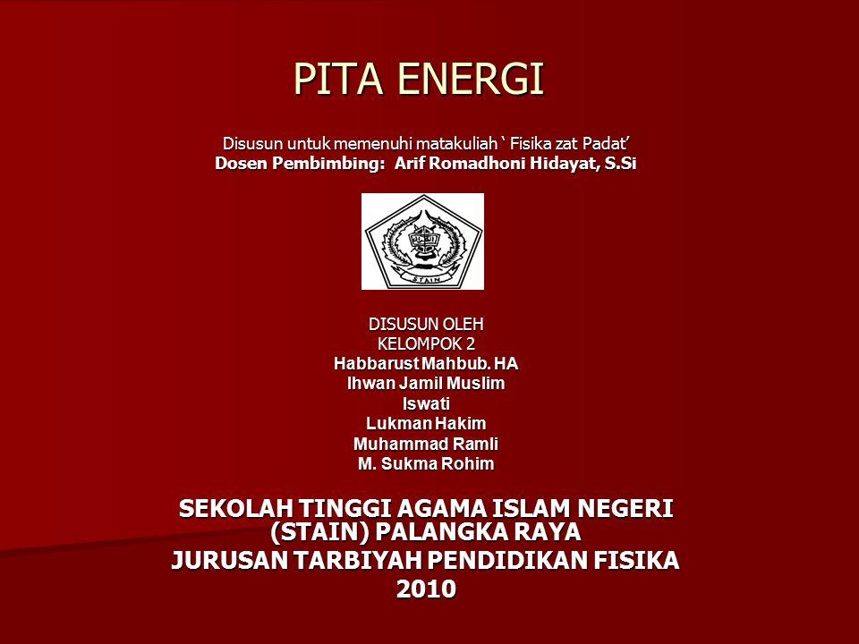 PITA ENERGI SEKOLAH TINGGI AGAMA ISLAM NEGERI (STAIN) PALANGKA RAYA