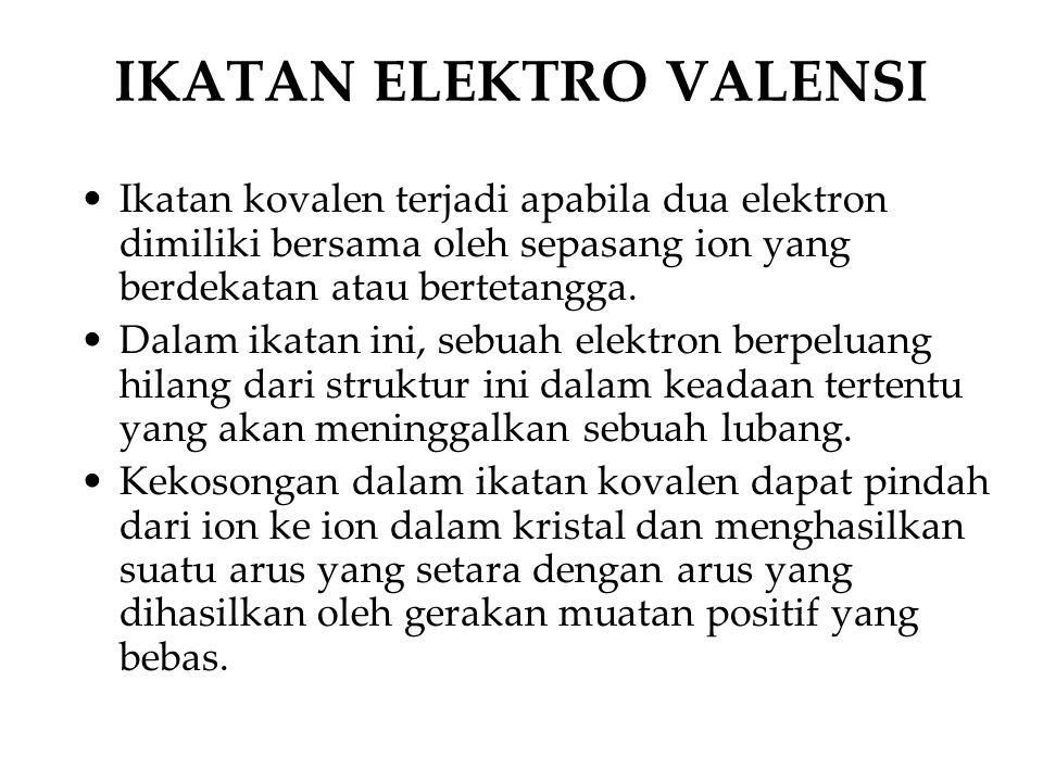 IKATAN ELEKTRO VALENSI