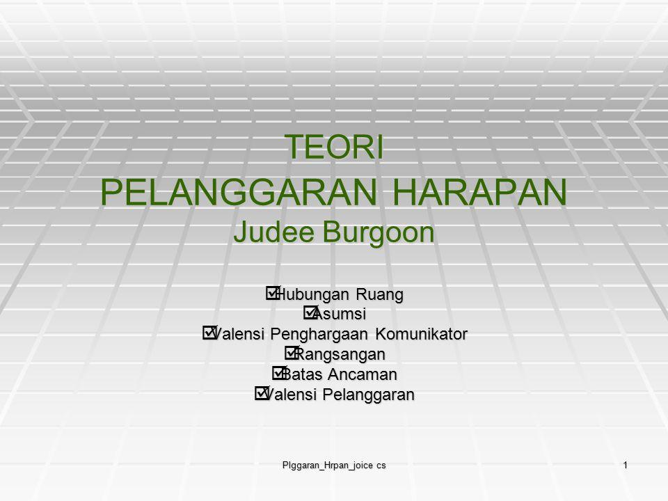 TEORI PELANGGARAN HARAPAN Judee Burgoon