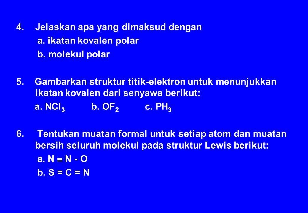 Model molekul yang atom pusatnya memiliki lebih dari satu pasangan elektron bebas