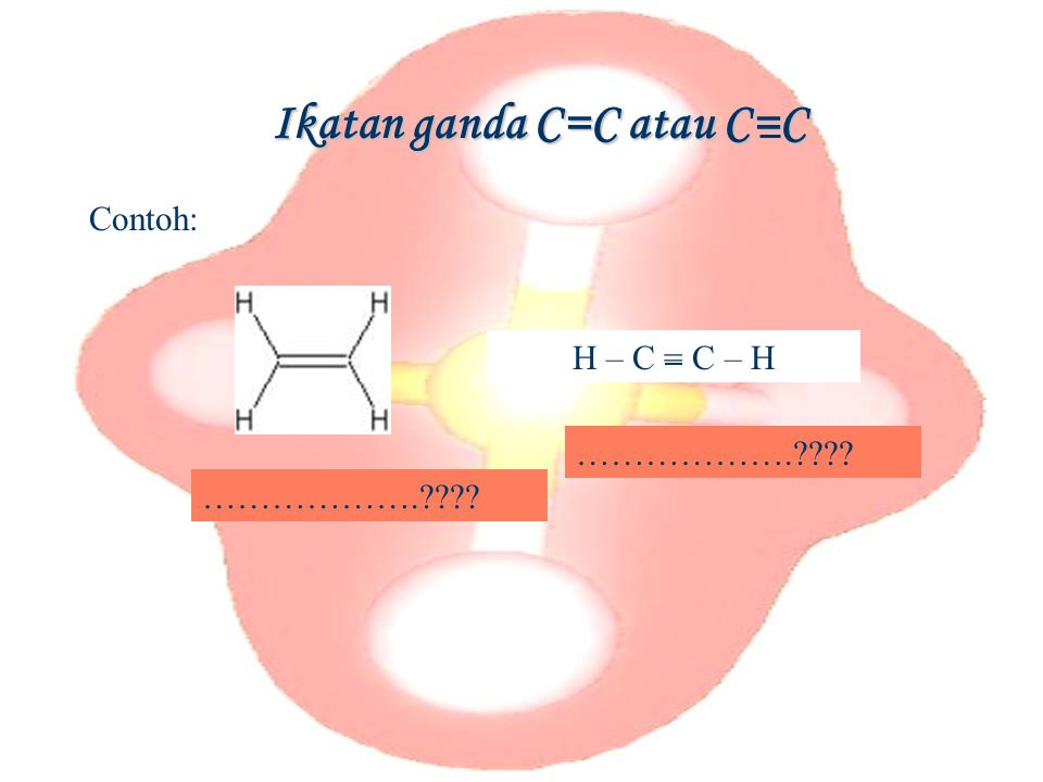 Ikatan ganda C=C atau C=C