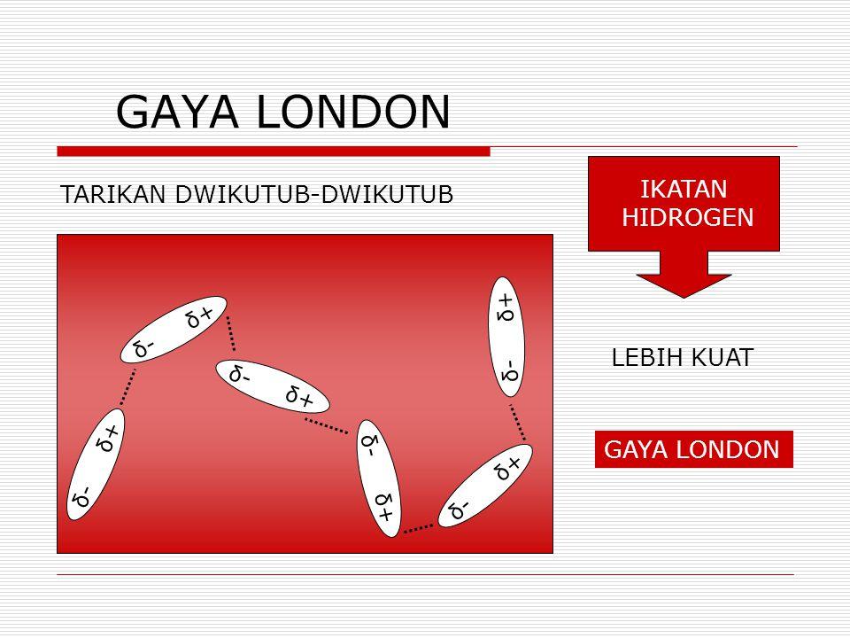 GAYA LONDON IKATAN TARIKAN DWIKUTUB-DWIKUTUB HIDROGEN LEBIH KUAT