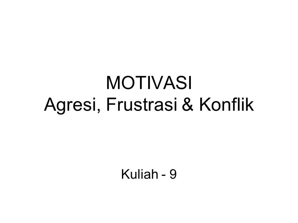 MOTIVASI Agresi, Frustrasi & Konflik