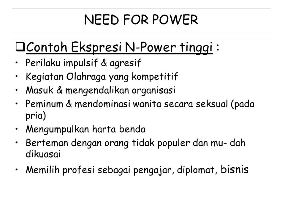 Contoh Ekspresi N-Power tinggi :
