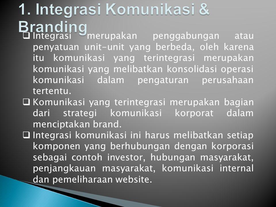 1. Integrasi Komunikasi & Branding