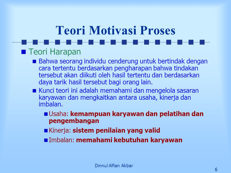 Teori Motivasi Proses Teori Harapan
