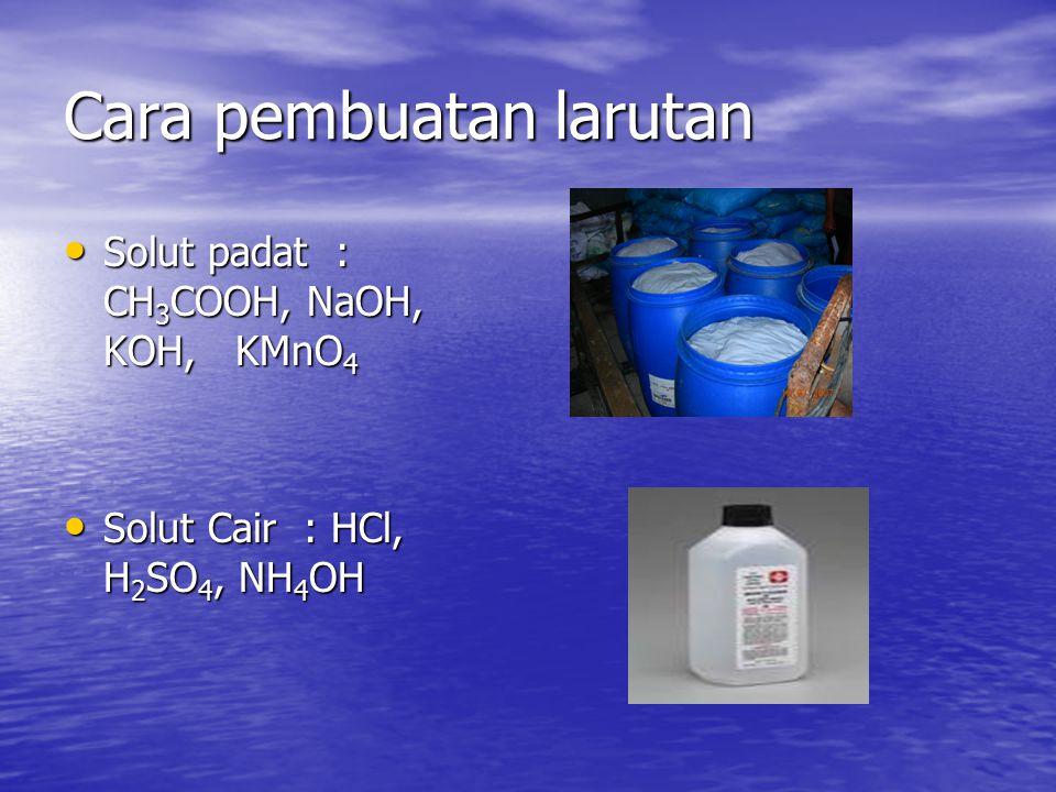 Cara pembuatan larutan