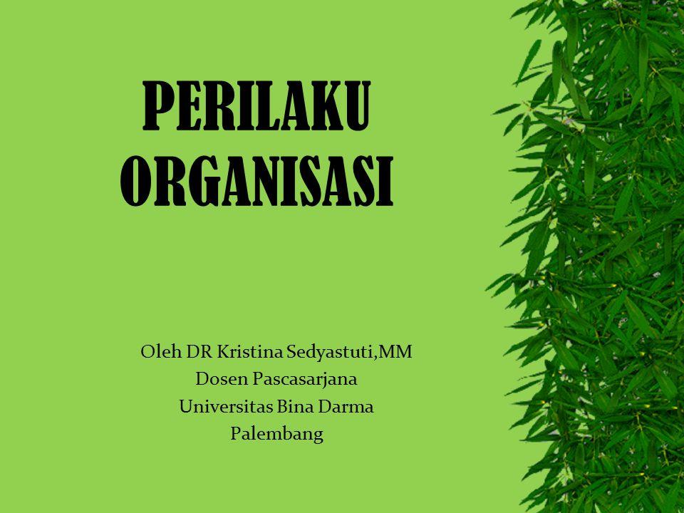PERILAKU ORGANISASI Oleh DR Kristina Sedyastuti,MM Dosen Pascasarjana