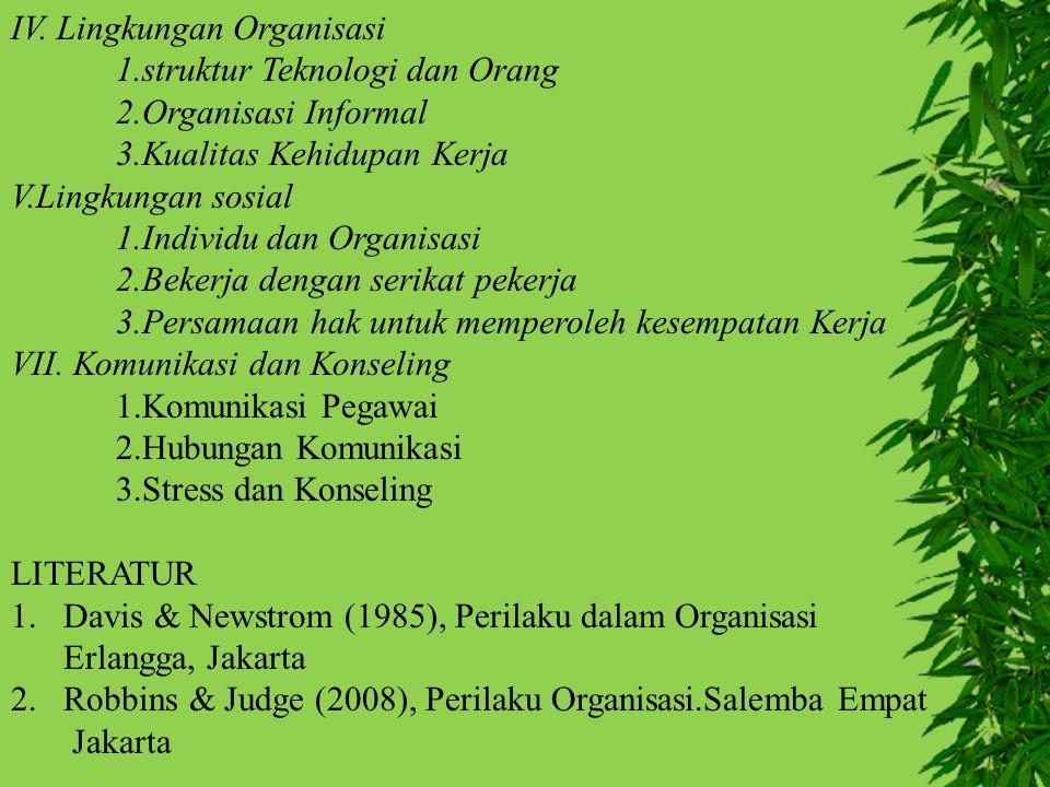 IV. Lingkungan Organisasi