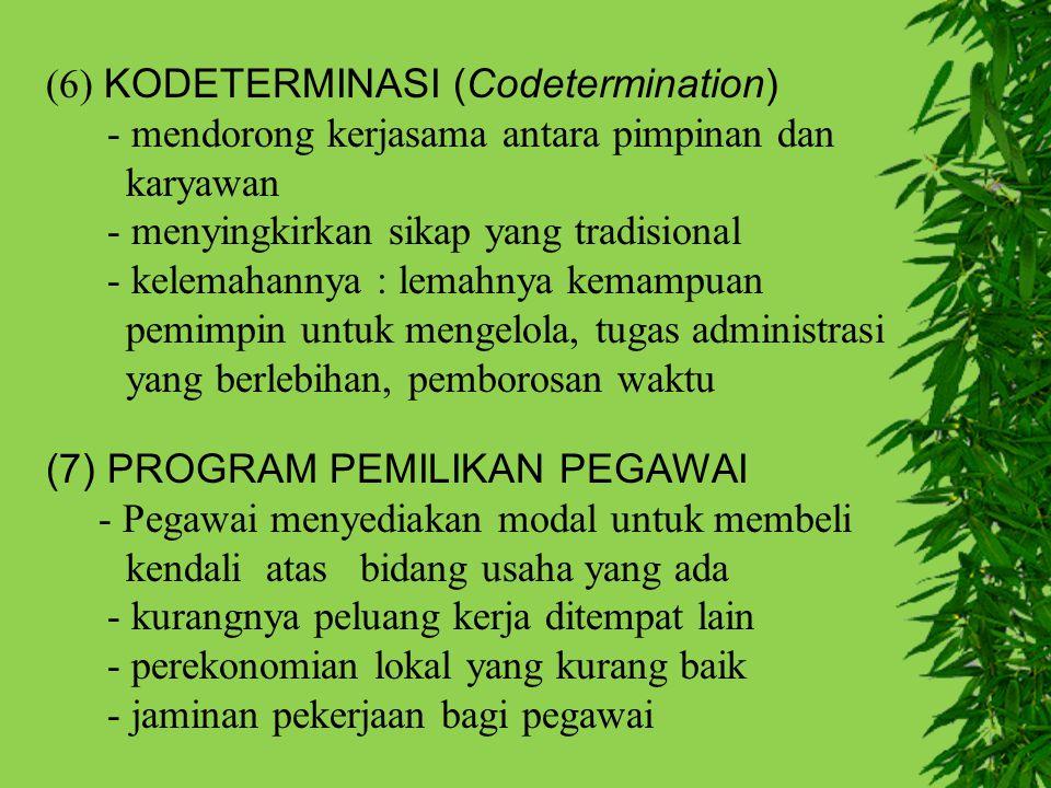 (6) KODETERMINASI (Codetermination)
