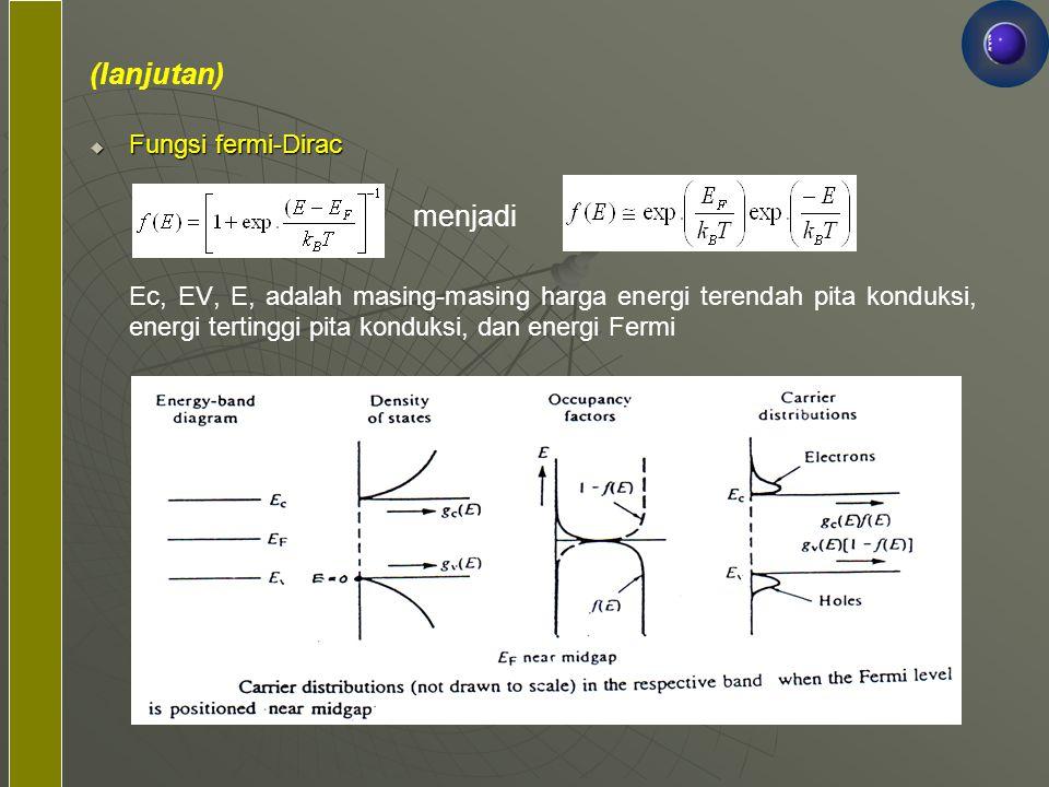 (lanjutan) menjadi Fungsi fermi-Dirac