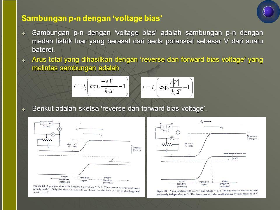 Sambungan p-n dengan 'voltage bias'