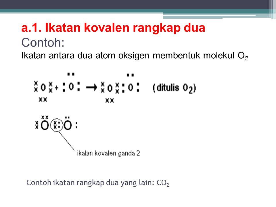 Contoh ikatan rangkap dua yang lain: CO2