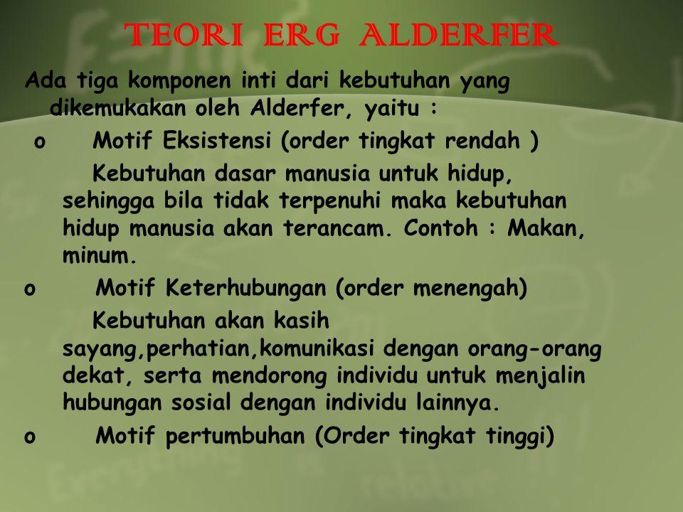 TEORI ERG ALDERFER