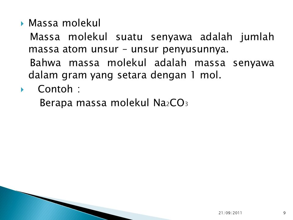 Berapa massa molekul Na2CO3