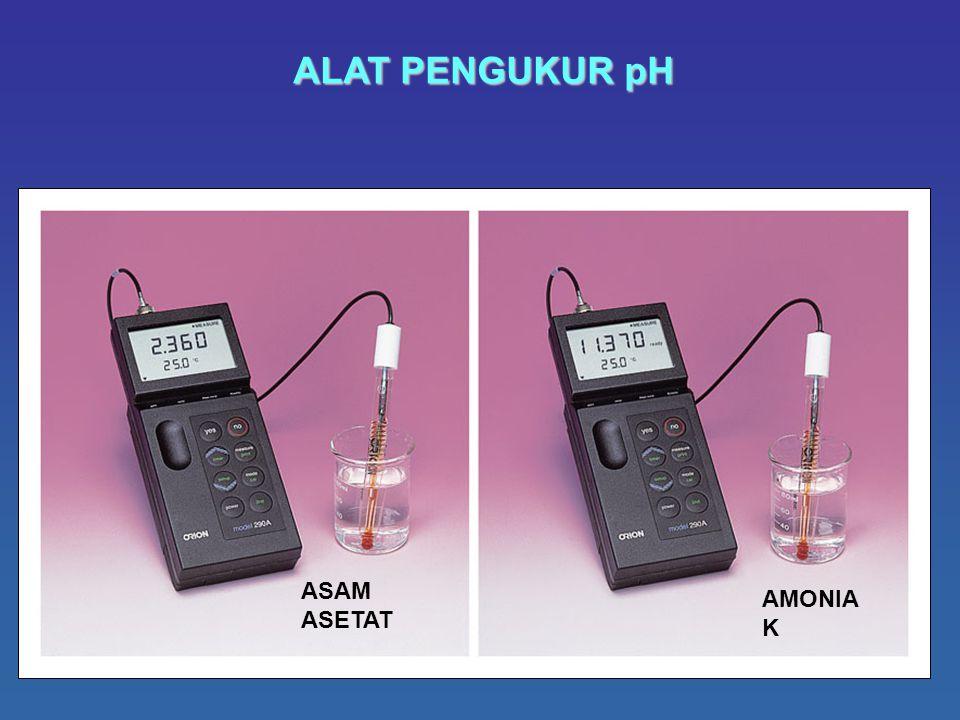 ALAT PENGUKUR pH ASAM ASETAT AMONIAK