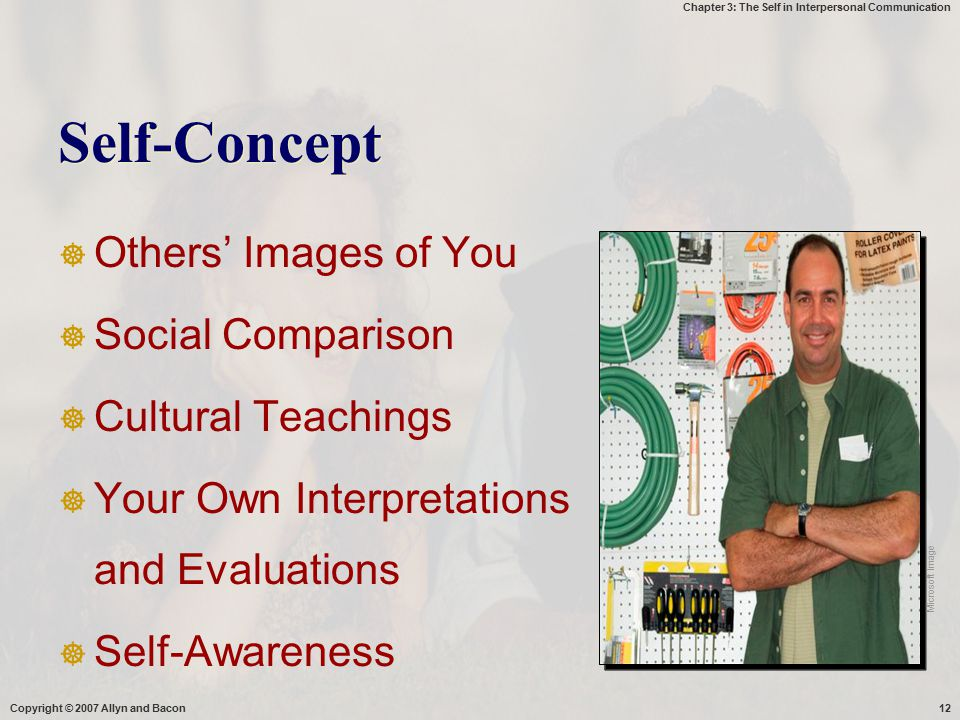 Self-Concept Others' Images of You Social Comparison