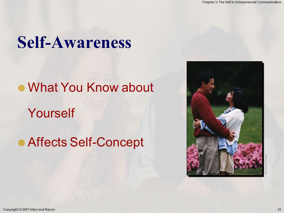 Self-Awareness What You Know about Yourself Affects Self-Concept