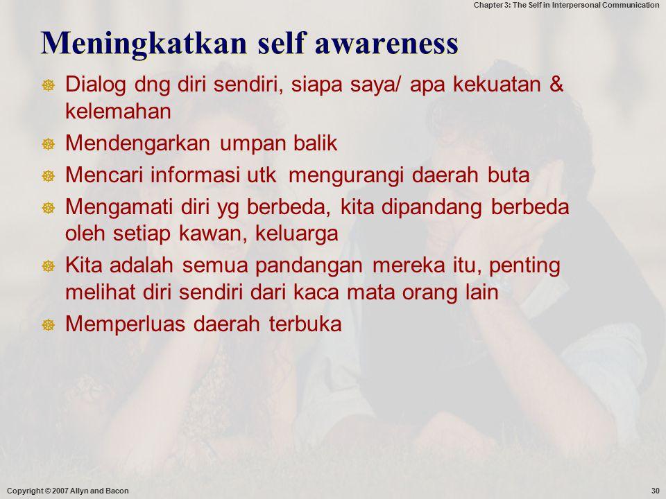 Meningkatkan self awareness