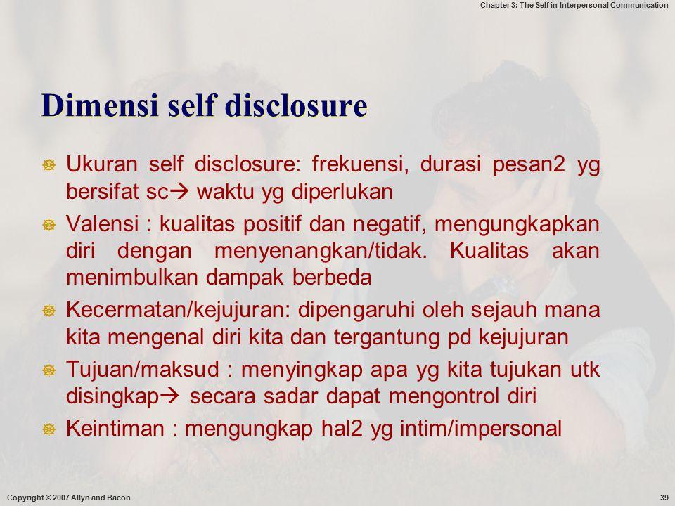 Dimensi self disclosure